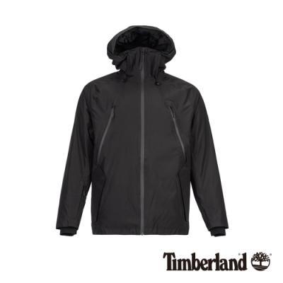 Timberland 男款黑色防水保暖風衣外套 A1ZPQ