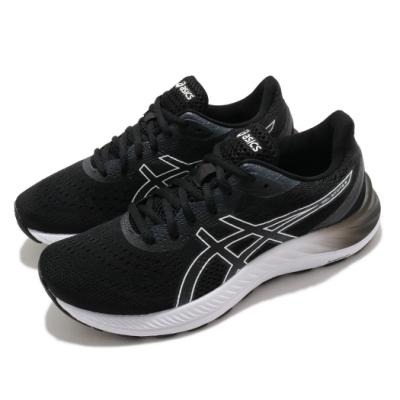 Asics 慢跑鞋 Gel-Excite 8 D 寬楦 女鞋 亞瑟士 路跑 緩震 輕量 亞瑟膠 黑 白 1012A915002