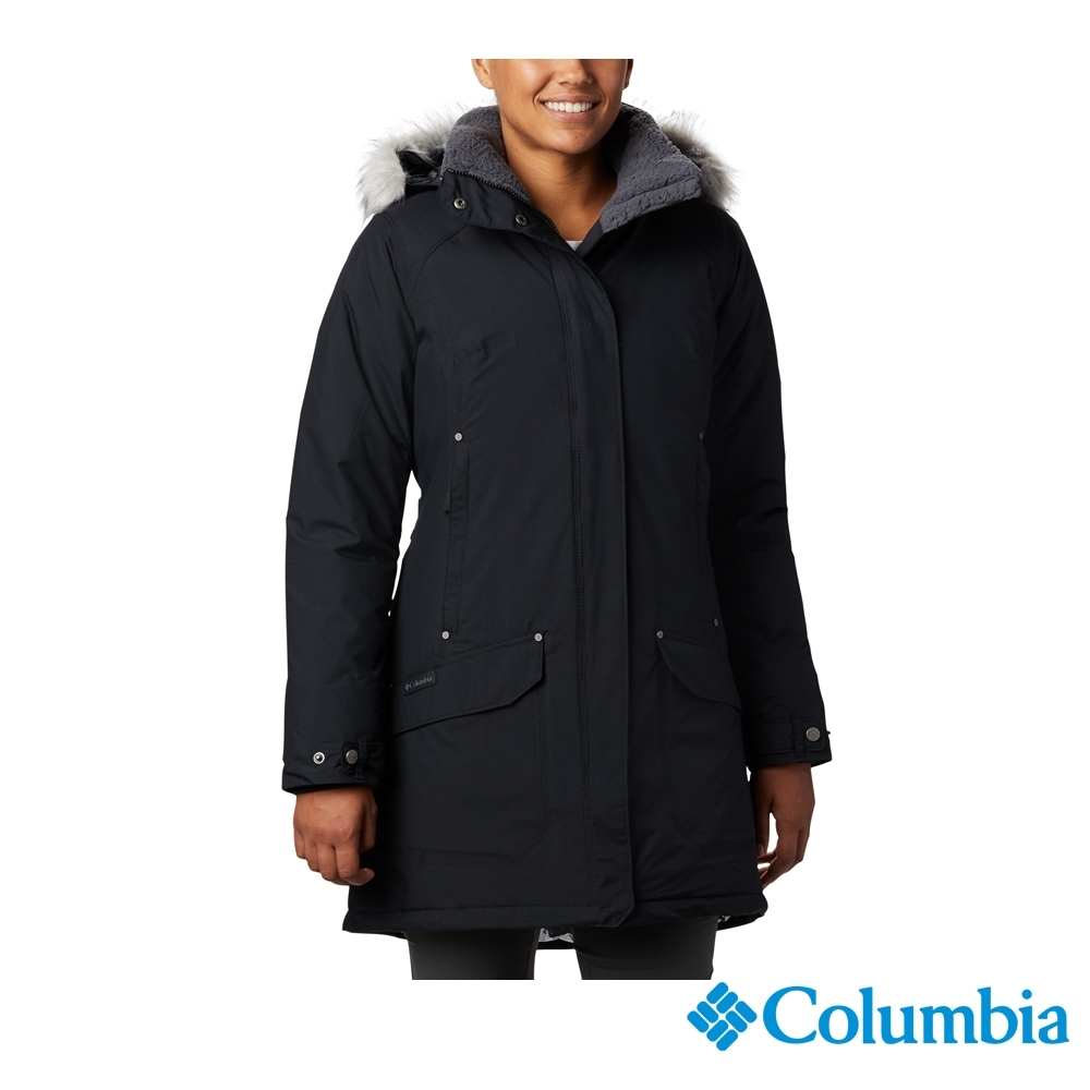 Columbia 哥倫比亞 女款- Omni-TECH 防水鋁點保暖羽絨大衣-深灰 UXL47170DY