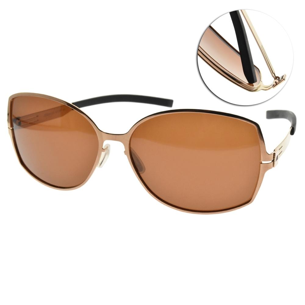 MIZUNO美津濃太陽眼鏡 偏光長方款/復古金-棕 # MF267 C09
