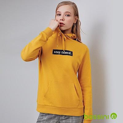 bossini女裝-連帽厚棉T恤芥末黃