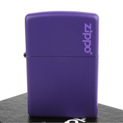 ZIPPO 美系~LOGO字樣打火機~Purple Matte紫色烤漆