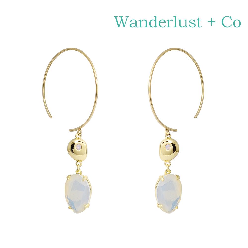Wanderlust+Co 澳洲時尚品牌Seek for Light夏日風情圓環耳環 金色