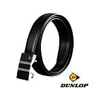 DUNLOP 經典系列-鏡面網紋方框自動釦真皮皮帶-黑色 DU10202