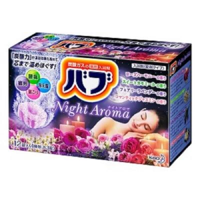 日本品牌 花王KAO 四合一夜香精油泡澡錠 12錠