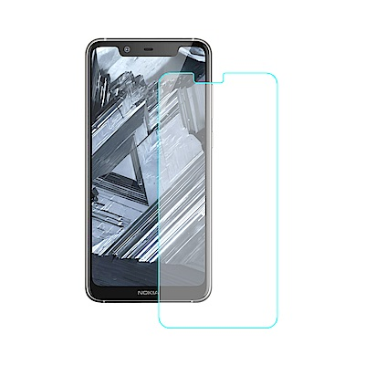 【SHOWHAN】NOKIA 5.1 Plus 9H鋼化玻璃0.3mm疏水疏油抗指紋保護貼