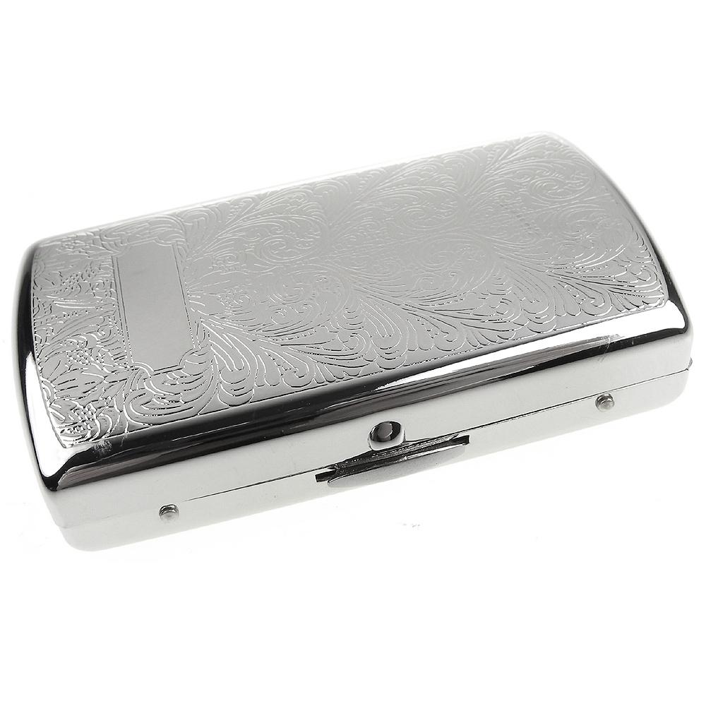 Pearl 珍珠-日本進口~高質感MINI捲煙煙盒(阿拉伯式花紋銀色款)