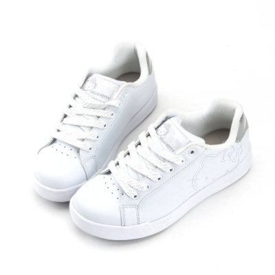HELLO KITTY 凱蒂貓女款 經典休閒鞋 板鞋-白/黑 (917196)