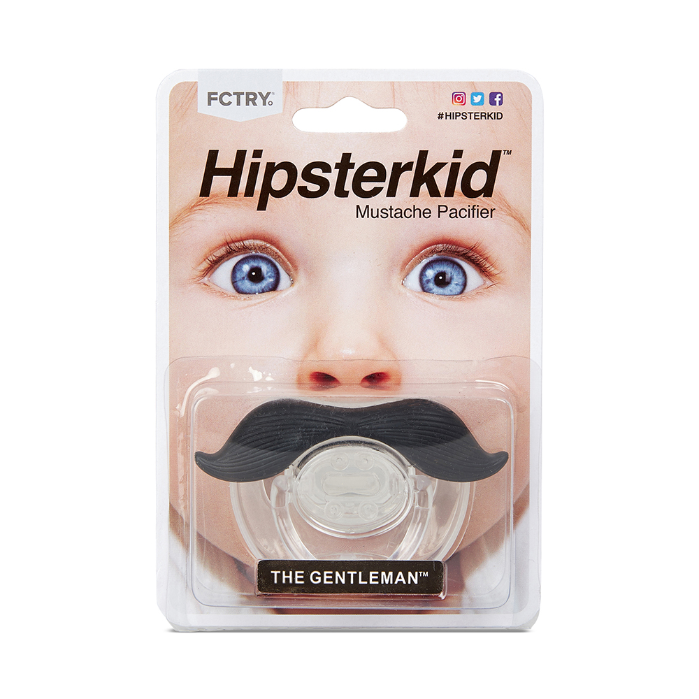 美國Hipsterkid 紳士鬍子嬰兒奶嘴 不含雙酚A