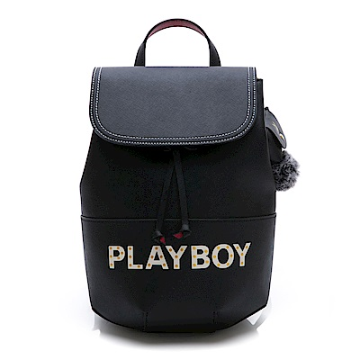 PLAYBOY- 後背包 摩登街頭系列-黑色