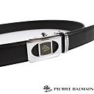 PB皮爾帕門 方框圓切頭層牛皮紳士自動扣皮帶(709)