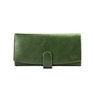 CALTAN-時尚流線設計真皮長夾-071850cd綠