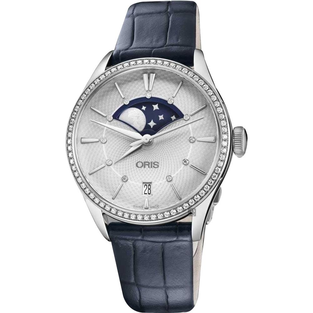 Oris 豪利時 Artelier 真鑽月相機械女錶-36mm