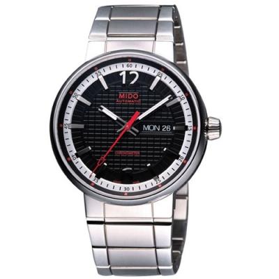 MIDO Great Wall 天文台認證長城系列機械腕錶-黑/39mm