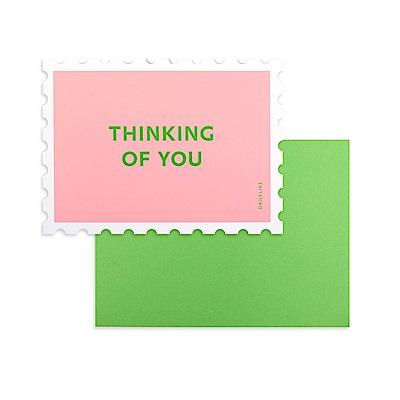 Dailylike 郵票造型卡片信封組-08 思維