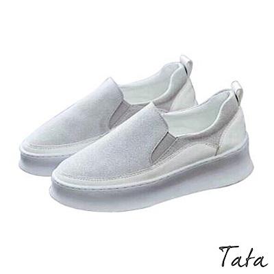 麂皮拼接休閒鞋 TATA