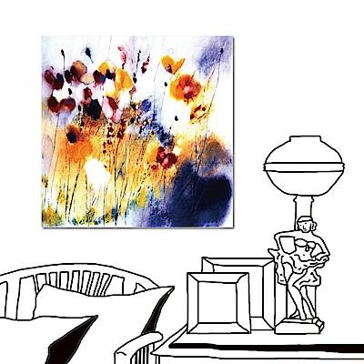 24mama掛畫 單聯式藝術無框畫-愛麗絲的花50x50cm