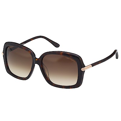 TOM FORD 方框 太陽眼鏡-琥珀色-TF9323