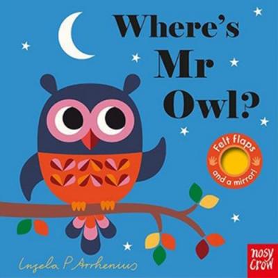 Where s Mr Owl? 貓頭鷹在哪裡?不織布翻翻書