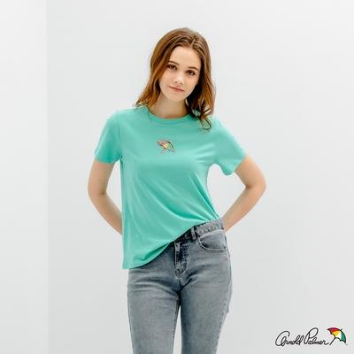 Arnold Palmer -女裝-錯視效果印花 LOGO TEE-綠色