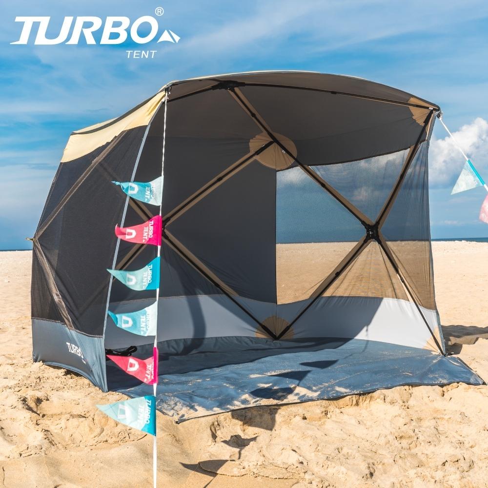 【Turbo Tent】Quick Shelter 200 野餐帳(野餐 海邊 遮陽帳)-乾隆黃