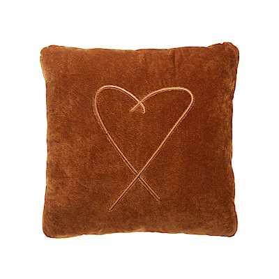 agnes b. b.logo方型抱枕(咖啡色)