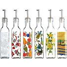 KitchenCraft 圖繪玻璃油瓶(275ml)
