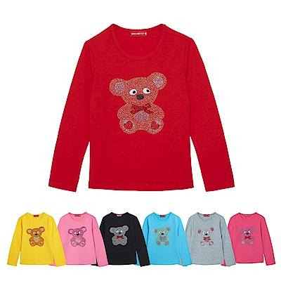 WHY AND 1/2 普普熊棉質萊卡T恤-親子裝媽媽 多色可選