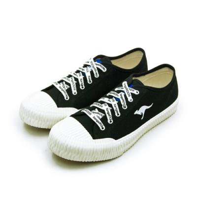 KangaROOS 帆布厚底餅乾鞋 CRUST藍標系列 黑米 91270