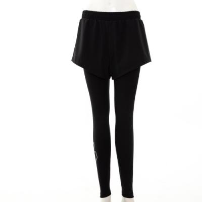 SKECHERS 女緊身長褲外搭短褲 - P121W021-0018