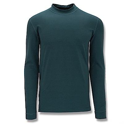 【Wildland 荒野】男遠紅外線彈性保暖衣深綠