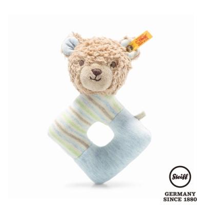 STEIFF德國金耳釦泰迪熊  GOTS Rudy Teddy bear grip toy with rattle 可愛小熊 (嬰幼兒手搖鈴)