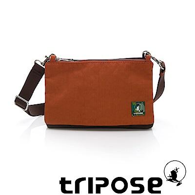 tripose MAJI系列混紡咖x 香橙橘多變斜背包