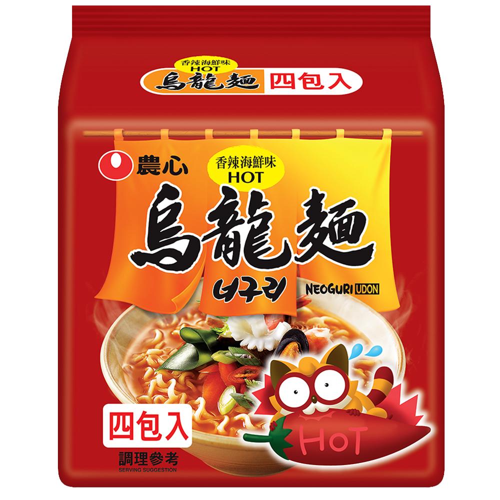 農心 香辣海鮮烏龍麵(120gx4入)