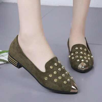 KEITH-WILL時尚鞋館 獨具品味時尚豆豆鞋-綠色