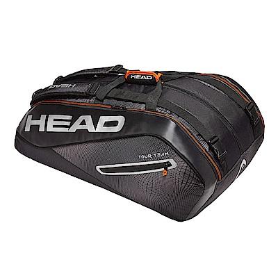 HEAD奧地利 Tour Team系列 12支裝球拍袋-黑銀 283109
