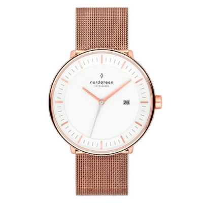 Nordgreen Philosopher 玫瑰金米蘭帶腕錶-40mm(PH40RGMEROXX)