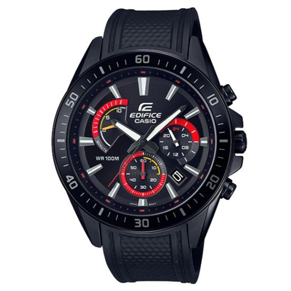 EDIFICE 混色雙搭賽車紋路設計風格腕錶-(EFR-552PB-1A)/47mm