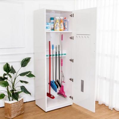 Boden-2.1尺一門防水塑鋼學校掃具收納櫃/置物櫃(兩色可選)-63x48x190cm