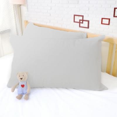 亞曼達Amanda 100%防水透氣抗菌枕頭保潔墊 枕頭套 -2入 (灰色)