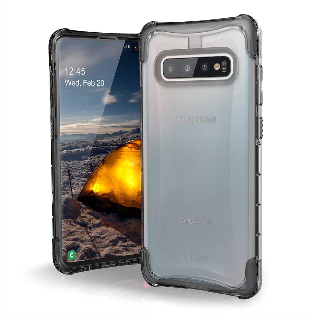 UAG Galaxy S10 Plus 耐衝擊全透保護殼-透明