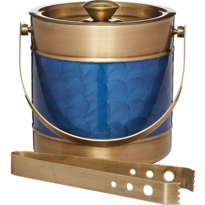 《KitchenCraft》冰夾+銅面浪紋冰桶