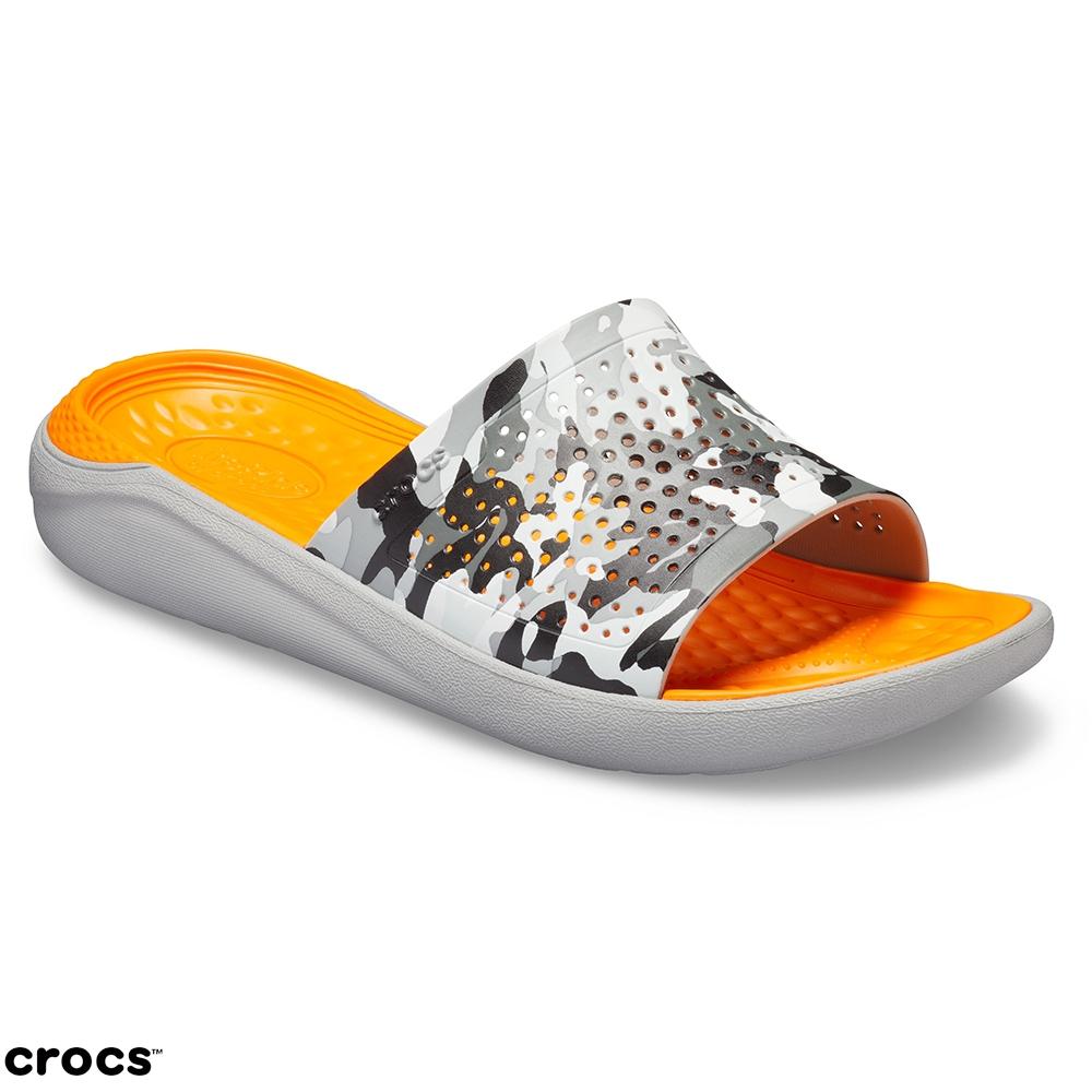 Crocs卡駱馳(中性鞋)LiteRide圖紋平底拖 205361-97A @ Y!購物