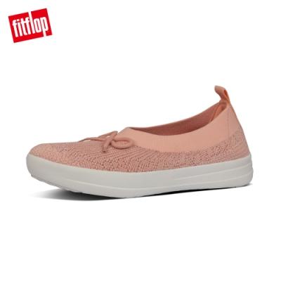 【FitFlop】UBERKNIT 易穿脫舒適休閒娃娃鞋-女(珊瑚粉)