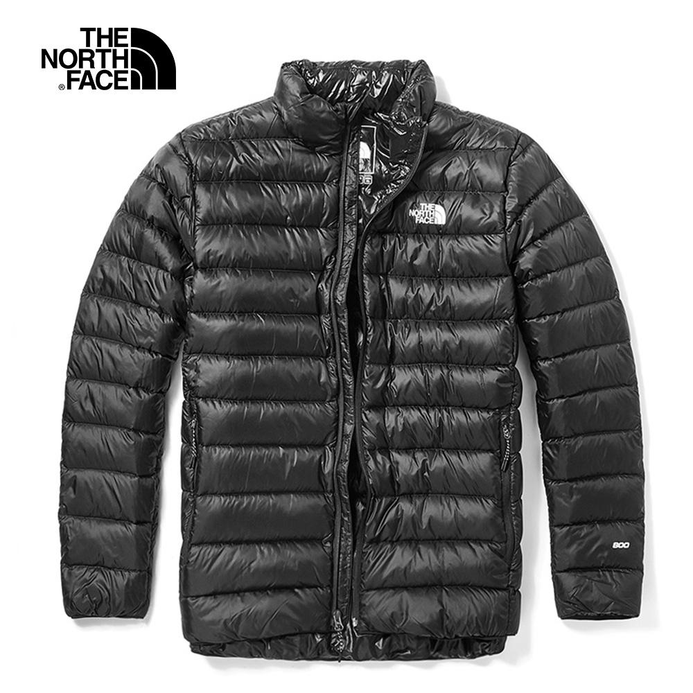 The North Face北面男款黑色保暖防潑水戶外羽絨外套|46I6JK3