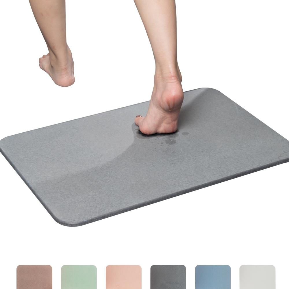 樂嫚妮 加大珪藻土吸水速乾地墊/腳踏墊/浴墊 60X39cm (5色)