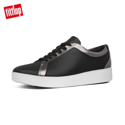 FitFlop RALLY LEATHER SNEAKERS 錫色/黑色