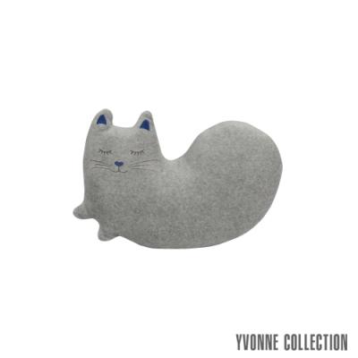 Yvonne Collection 貓咪造型午安枕- 淺灰