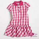 【天使霓裳-童裝】亮麗色彩 可愛格紋短袖小洋裝(白粉)