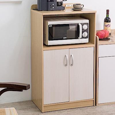 [時時樂限定] TZUMii 雙門廚房收納櫃(附插座)-59*40*106.8cm